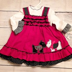 NWT Rare Editions little girls 2 piece dress